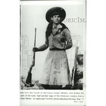 Press Photo Annie Oakley is profiled on Remember When, TV series. - spp02803