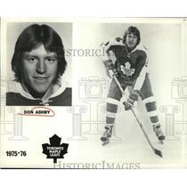 1974 Press Photo Toronto Maple Leafs hockey player Don Ashby - nes51768