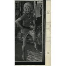 1972 Press Photo Helle Virkner Krag performs in Copenhagen, Denmark - mja34940