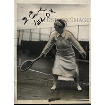 1924 Press Photo Mrs Marion Z Jessup at exhibition tennis in NY - net22654