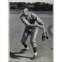 1937 Press Photo Leslie Mueller Belleville Ill HS pitcher scouted by St Louis Br