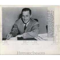 1948 Press Photo Bib Carpenter,owner-President of Philadelphia Phillies