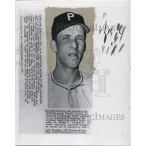 1933 Press Photo Bill Pierre,Pittsburgh Pirate Pitcher suffered Brain ailment