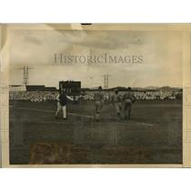 1923 Press Photo Navy Championship baseball game in Panama by US fleet