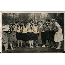 1927 Press Photo Northwestern U girls team B Lumley, M Converse, J Fellows