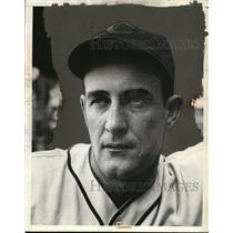 1938 Press Photo John Allen, pitcher, Cleveland Indians - net24896