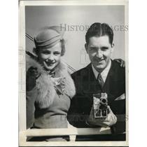 1933 Press Photo White Sox star Billy Sullivan marries Louise Barthman