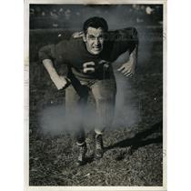 1940 Press Photo Walter Poremba, quarterback, Lincoln High - net25078