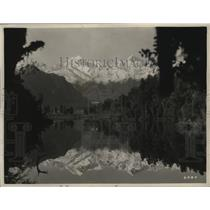 1925 Press Photo Lake Matherson, one of forested lakes of West Coast region
