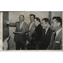 """1958 Press Photo The """"new"""" Green Bay Packers coaching staff gets to work"""