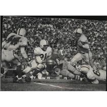 1953 Press Photo Breezy Reid, Packer halfback gains nine yards in first quarter.