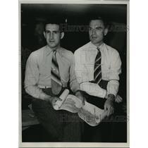 1936 Press Photo Sigismund Levenevsky and Victor J. Levohenko in California