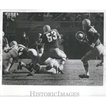 1965 Press Photo This is the play that led to Packers go ahead points in 3rd.