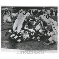 1963 Press Photo Play ended where it started on Steeler one foot line.