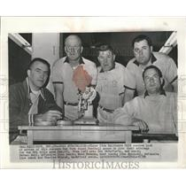 1959 Press Photo These five Baltimore Colt coaches look at movies of Giants