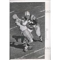 1962 Press Photo Max McGee could not hold onto Bart Starr's pass on Baltimore 10