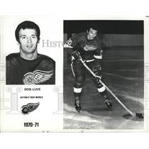 1971 Press Photo Don Luce of the Detroit Red Wings - nes52538