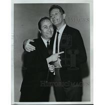 1964 Press Photo Howard Morris puts Finger on Heart of Danny Kaye - mjx14758