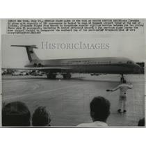 1968 Press Photo Ilyuskin 62 plane inaugurate civilian service from Moscow to NY