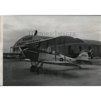 1957 Press Photo This OX5 Waco bi-plane was built by an Appleton man-Ray Goss