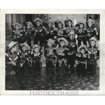 1957 Press Photo Abadie's Boys Dressed as Cowboys, Mardi Gras, New Orleans