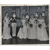 1958 Press Photo Couples in Twelfth Night, Mardi Gras, New Orleans - noca00128