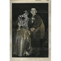 1955 Press Photo Children in costume in celebration of Mardi Gras - noca00645