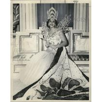 1958 Press Photo Carnival Queen of Vergilians. Eleanor Marie Krieger.