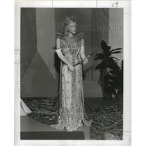1956 Press Photo Carnival Queen of Rex- 1954 - noca00775
