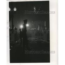 Press Photo New Orleans Mardi Gras police on watch - noca00892