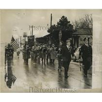 1955 Press Photo Arabi Carnival Club Marches to Downtown New Orleans - noca01315