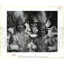 Press Photo Robert Grace and Arthur Waters at Rex Ball Mardi Gras, New Orleans