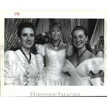 Press Photo Rex Debutantes at Rex Ball Mardi Gras, New Orleans - noca01568