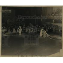 1955 Press Photo Carnival Ball- Meeting of King of Rex and King of Comus.