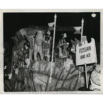 Press Photo Persian Themed Float for Knights of Babylon, Mardi Gras New Orleans