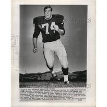 1966 Press Photo Tom Keating, Oakland Raiders Defensive Tackle.