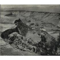 """1937 Press Photo Air view of Idaho's growing """"sinking canyon"""" in Buhl"""