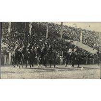 1912 Press Photo Grandstand Parade at the Spokane Interstate Fair Track