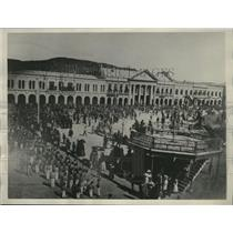 1928 Press Photo Plaza de la Independencial at Comcepcion Chile