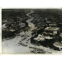 1941 Press Photo Aerial view of the port of Saigon, French Indo-China