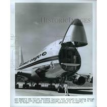 1974 Press Photo Air France's new 747-200 Freighter- swing-up node door up