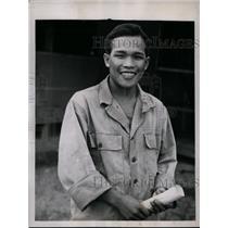 1946 Press Photo Takuma Higashiji Acted as Civilian Interpreter For Japanese