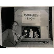1934 Press Photo Tessa Naroll w Puppet Show at California Dental Convention