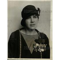 1926 Press Photo Dagmar Ruin Red Cross Veteran of Finland to Visit America
