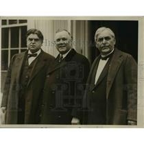 1927 Press Photo Three Labor Leaders call on the President at the White House
