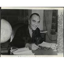 1941 Wire Photo Captain Eddie Rickenbacker, president of Eastern Airlines