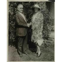 1929 Press Photo Mrs Daniel O'Day & Thomas McMahon President of Textile Union