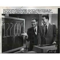 1957 Press Photo Carl Van Doren Raised Total Winnings to $122,000 To Keep Title