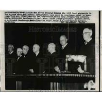 1958 Press Photo Federal Judges of Little Rock, Arkansas School Integration Case