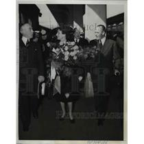 1939 Press Photo Crown Prince Olav and Crown Princess Martha of Norway